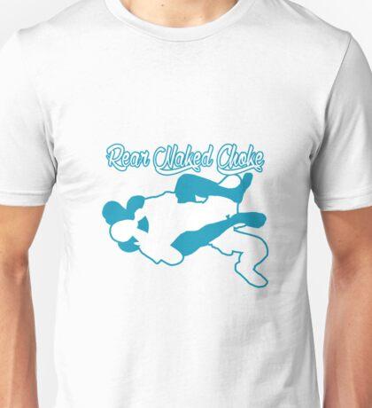 Rear Naked Choke Mixed Martial Arts Blue  Unisex T-Shirt