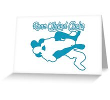 Rear Naked Choke Mixed Martial Arts Blue  Greeting Card