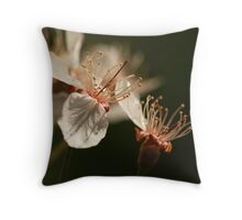 Two blossoms Throw Pillow