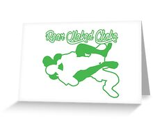 Rear Naked Choke Mixed Martial Arts Green  Greeting Card