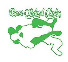 Rear Naked Choke Mixed Martial Arts Green  Photographic Print