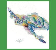 Rainbow Turtle  One Piece - Short Sleeve