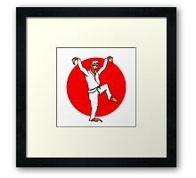 Karate Sloth Framed Print