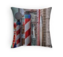 Old Fashion Barber Shop Throw Pillow