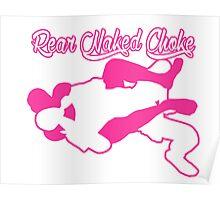 Rear Naked Choke Mixed Martial Arts Pink  Poster
