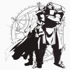 Full Metal Alchemist - Edward and Alphonse Elric Silhouettes by Animenace