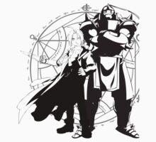 Full Metal Alchemist - Edward and Alphonse Elric Silhouettes
