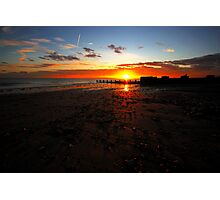 Sunset and the jetset Photographic Print