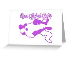 Rear Naked Choke Mixed Martial Arts Purple  Greeting Card