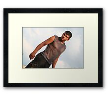 Young farmer Framed Print