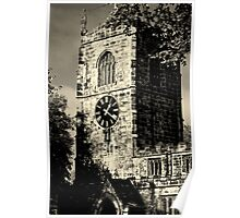 Clock Tower at Skipton Church Poster