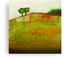 One Tree, mixed media on canvas Canvas Print