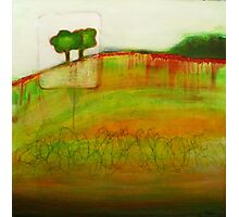 One Tree, mixed media on canvas Photographic Print