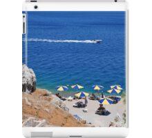 Nos beach, Symi island iPad Case/Skin