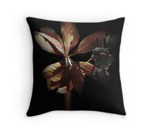 Flower in the Dark Throw Pillow