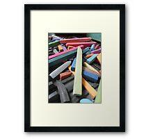 Pastel sticks Framed Print