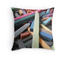 Pastel sticks Throw Pillow