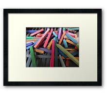 Pastel sticks Horizontal Framed Print