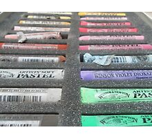 Art materials...pastel box Photographic Print