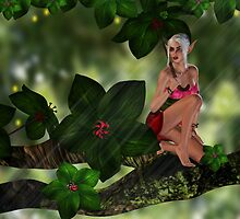 Buttercup Hailfly - The Tree Elf by Moonlake