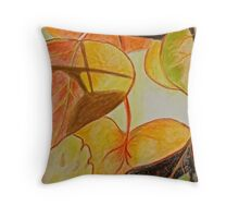 Autumn leaves and shadows Throw Pillow