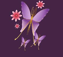 Soft Purple Butterfly Womens Fitted T-Shirt