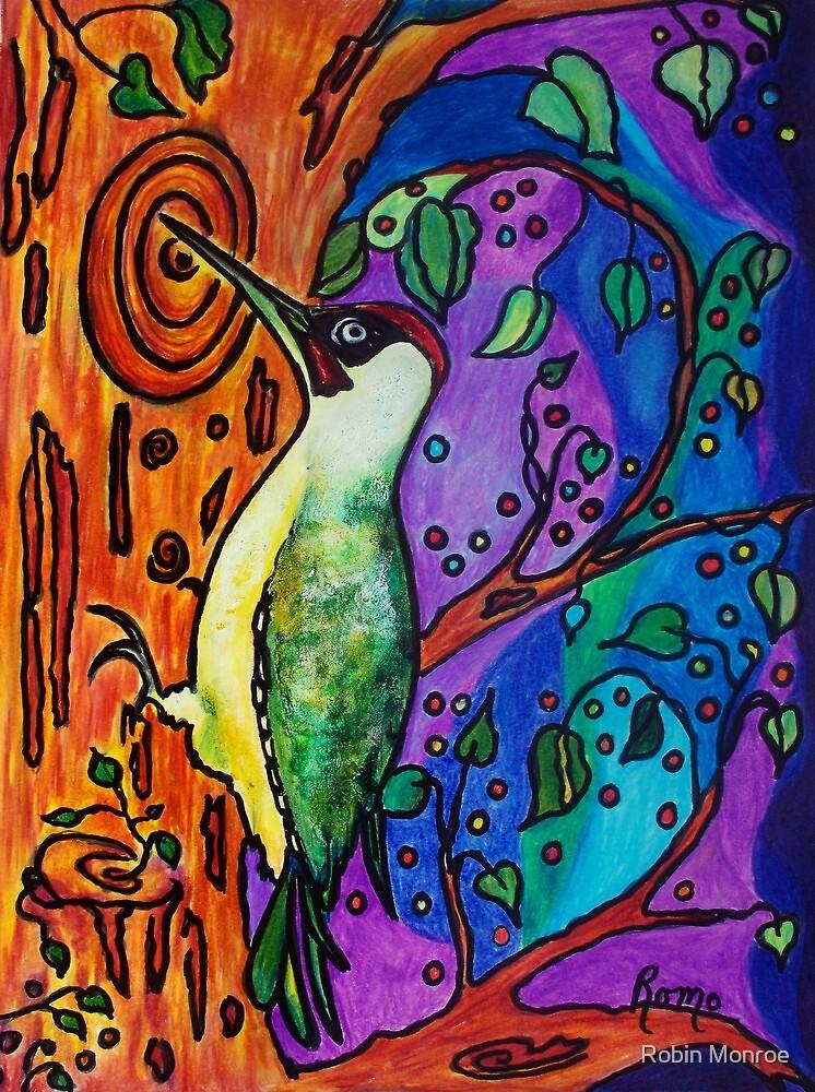 Yaffle - The Green Woodpecker by Robin Monroe