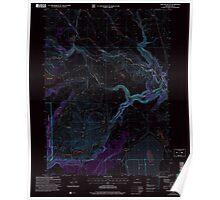 USGS Topo Map Oregon Sage Hen Butte 281354 2004 24000 Inverted Poster