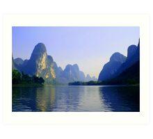 Li River, China Subject: Landscape, river, Guilin Art Print