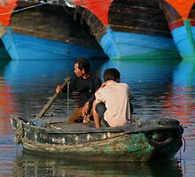 Chinese Boats by fotinos