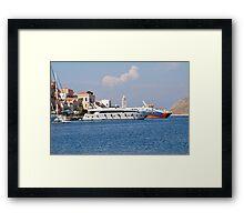 Yialos harbour, Symi Framed Print
