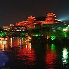 Guilin China at Night - Fine Art - Landscape by fotinos