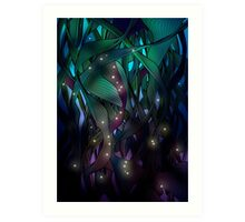 Nocturne (with Fireflies) Art Print