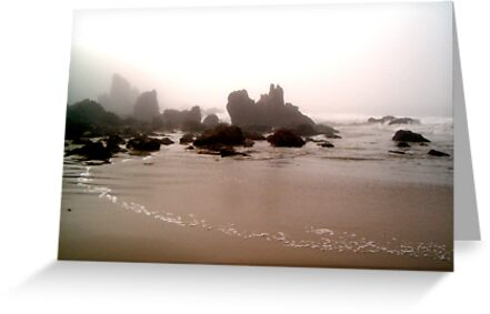 Dreary Morning by the Sea by Paula Betz