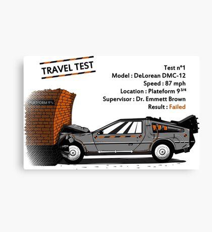 Travel Test Canvas Print