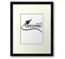 Awesome Since 1945 Framed Print