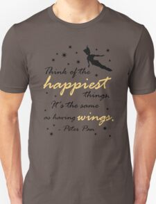 Think Of The Happiest Things Unisex T-Shirt