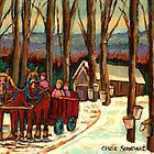 MAPLE SYRUP AT THE SUGAR SHACK by Carole  Spandau