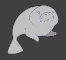 cute grey manatee porpoise sea cow by jazzydevil