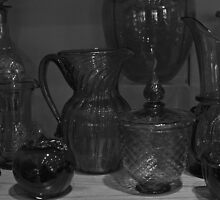 Hand blown glassware by Joy Fitzhorn