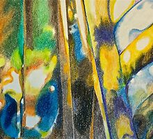 Abstract of transparaency of cut glass by ArtbyInese2015