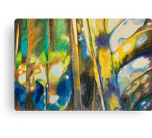 Abstract of transparaency of cut glass Canvas Print