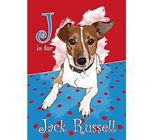 J is for Jack Russell Photographic Print