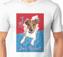 J is for Jack Russell Unisex T-Shirt
