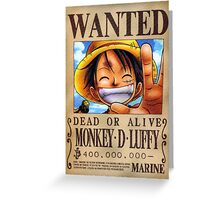 ONE PIECE - WANTED Luffy Greeting Card