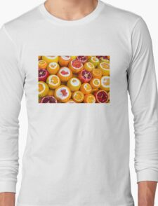 Oranges and pomegranates in Grand Bazaar Istanbul, TURKEY Long Sleeve T-Shirt