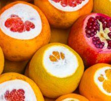 Oranges and pomegranates in Grand Bazaar Istanbul, TURKEY Sticker