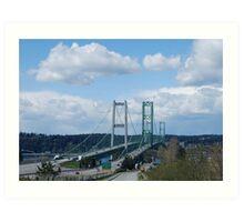 Tacoma Narrows Bridges Art Print