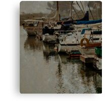 Morro Bay with Fog Canvas Print