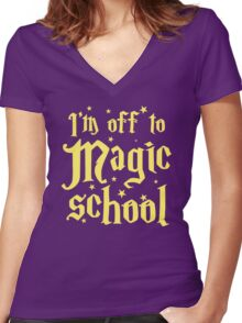 I'm off the MAGIC SCHOOL Women's Fitted V-Neck T-Shirt
